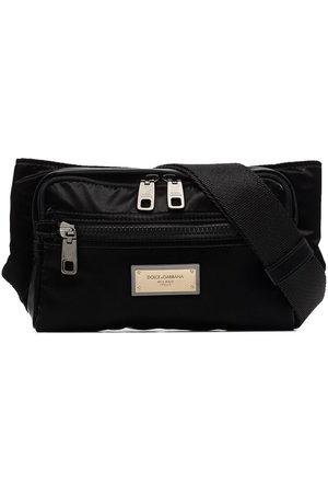Dolce & Gabbana Herren Gürtel - Nero Sicilia nylon belt bag