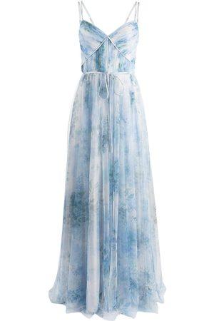Marchesa Notte Bridesmaids Sora Trägerkleid mit Blumen-Print