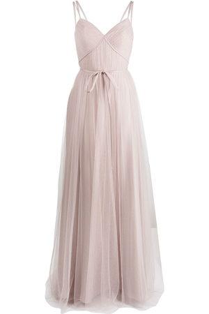 Marchesa Notte Bridesmaids Tuscany Trägerkleid aus Tüll - Nude