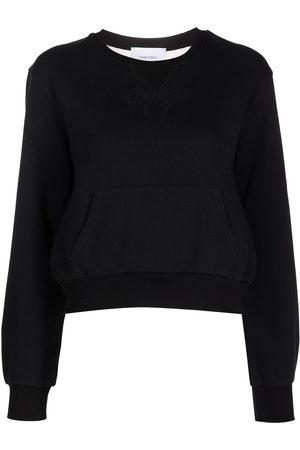 Marchesa Notte Damen Shirts - Sweatshirt mit semi-transparentem Einsatz