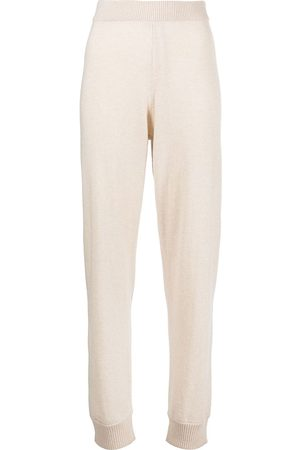 ROSETTA GETTY Knitted cashmere track pants - Nude