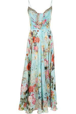 Camilla Seidenkleid mit floralem Print