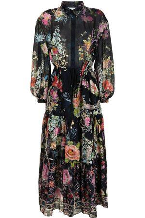 Camilla Damen Bedruckte Kleider - Seiden-Maxikleid mit Blumen-Print