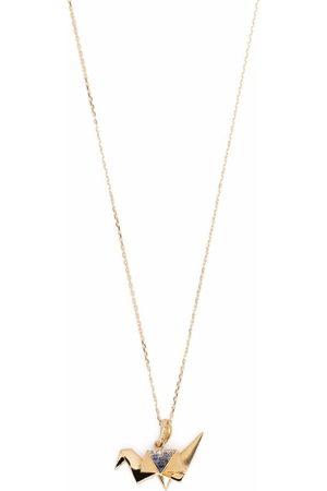 Aurélie Bidermann 18kt yellow Origami sapphire and diamond necklace