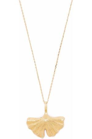Aurélie Bidermann 18kt yellow Ginkgo necklace
