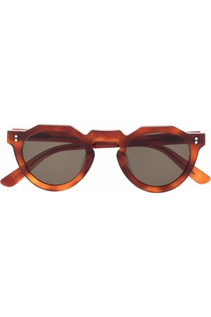 LESCA Runde Pica Sonnenbrille - Nude