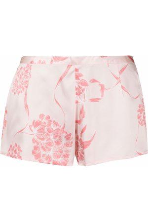 La Perla Floral silk shorts