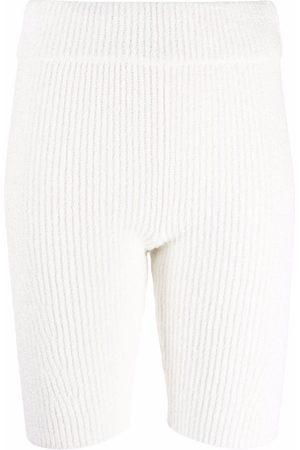 RAG&BONE Organic cotton-blend ribbed shorts