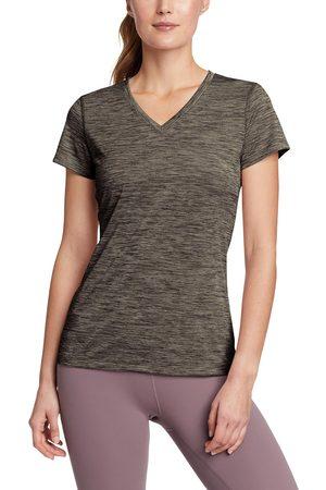 Eddie Bauer Damen Shirts - Resolution T-Shirt mit V-Ausschnitt Damen Gr. L