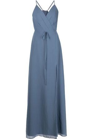 Marchesa Notte Damen Kleider - Bodenlanges Abendkleid im Wickelstil
