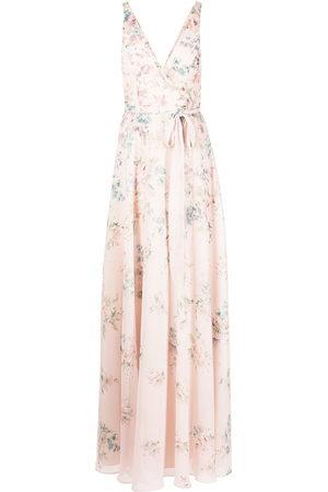 Marchesa Notte Damen Bedruckte Kleider - Abendkleid aus Tüll mit Blumen-Print