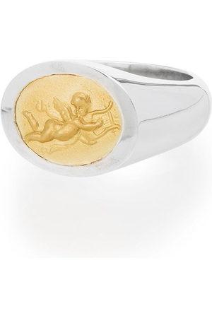 Shola Branson Herren Ringe - 14kt 'Cupid' Gold- und Sterlingsilberring