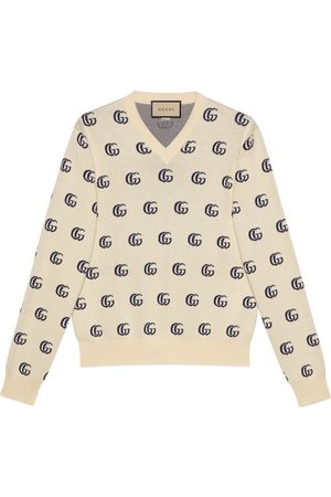 Gucci Strickpullover aus GG Baumwolljacquard