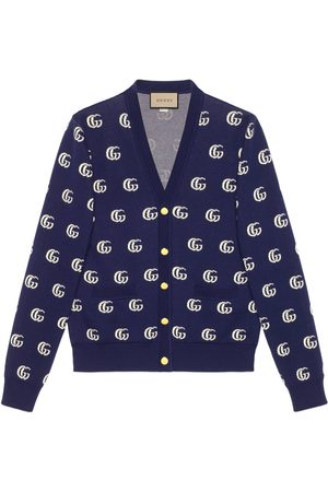 Gucci Herren Sweatshirts - Strickcardigan aus GG Baumwolljacquard