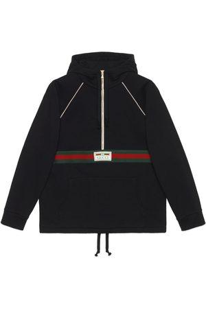 Gucci Herren Sweatshirts - Pullover aus Baumwolljersey mit Web
