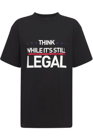 Vetements T-shirt Aus Baumwolljersey Mit Logo