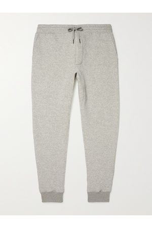 Tom Ford Herren Jogginghosen - Tapered Garment-Dyed Fleece-Back Cotton-Jersey Sweatpants
