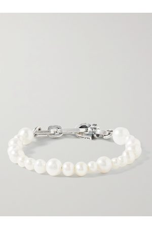 M. COHEN Herren Armbänder - Sterling Pearl Bracelet