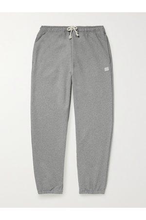 ACNE STUDIOS Herren Jogginghosen - Tapered Logo-Appliquéd Cotton-Jersey Sweatpants