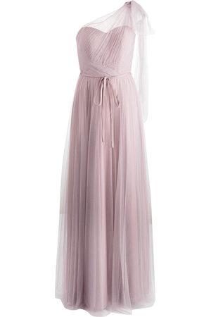 Marchesa Notte Bodenlanges One-Shoulder-Abendkleid