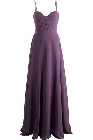 Marchesa Notte Bridesmaids Bodenlanges Kleid mit verdrehtem Detail