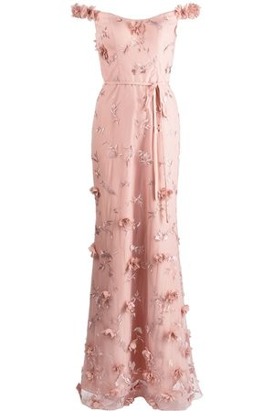 Marchesa Notte Damen Lange Kleider - Maxi-Abendkleid mit aufgestickten Blumen