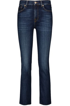 7 For All Mankind Damen Straight - Mid-Rise Jeans The Straight Crop
