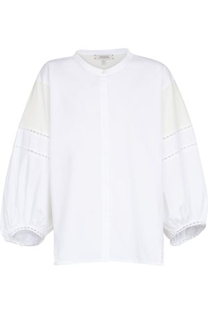 Dorothee Schumacher Damen Longsleeves - Bluse Lace Lines aus Baumwolle