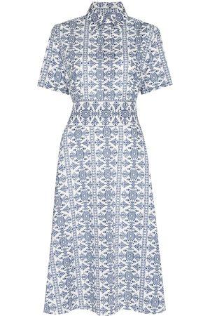 Evi Grintela Tile-print midi dress