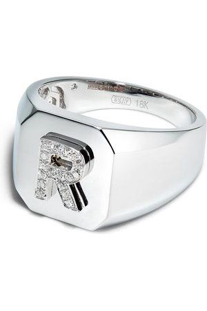 Shay Herren Ringe - 18K white gold R-initial ring