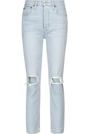 RE/DONE High-Rise Cropped Jeans 90s