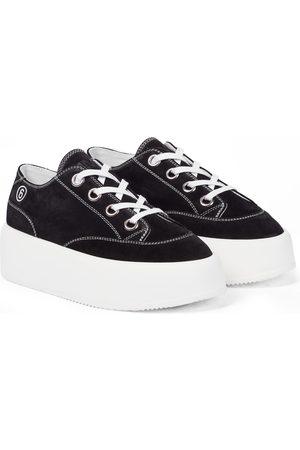 MM6 MAISON MARGIELA Plateau-Sneakers aus Veloursleder