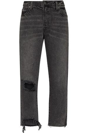 Frame Le Slouch ripped boyfriend jeans