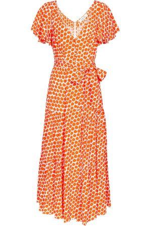 Diane von Furstenberg Damen Bedruckte Kleider - Bedrucktes Midikleid Leila aus Crêpe