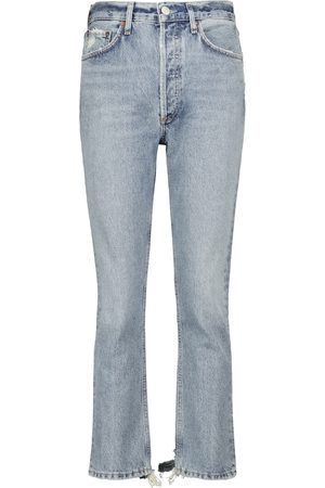 Agolde Damen High Waisted - High-Rise Cropped Jeans Riley