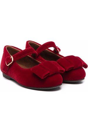 Age of Innocence Ellen velvet ballerina shoes
