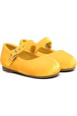 Age of Innocence Eva velvet ballerina shoes