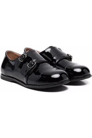 Age of Innocence Patent-leather monk shoes