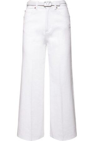 VALENTINO Jeans Aus Baumwolldenim Mit Gürtel