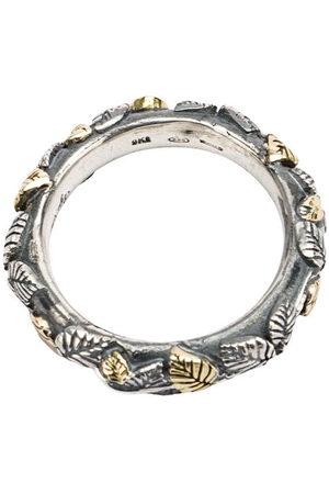 UGO CACCIATORI Herren Ringe - Ring mit eingravierten Blättern