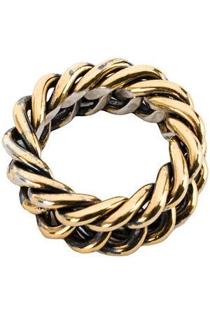 Ugo Cacciatori Ring mit verflochtenem Design - +SILVER ARG: 20GRS
