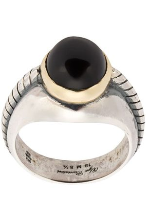 UGO CACCIATORI Herren Ringe - Ring mit Onyx - ONYX ARG: 7.5GRS OR: 0.7GRS