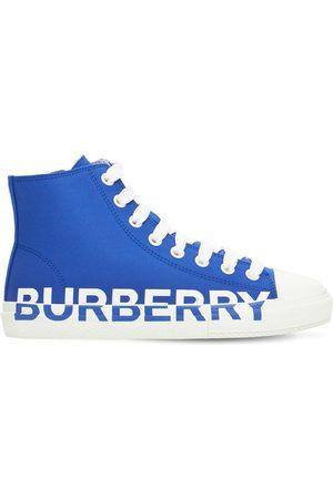 Burberry Sneakers Aus Baumwolle Mit Logo