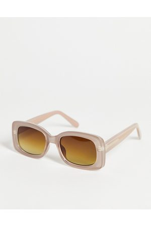 A. Kjærbede – Salo – Runde Unisex-Sonnenbrille in Hellgrau