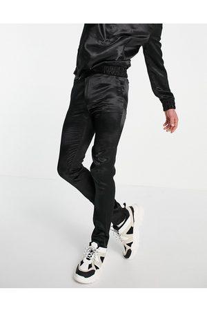 ASOS – Elegante Hose in engem Schnitt mit Kordelzug in