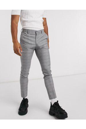 ASOS – Sehr enge, elegante Hose mit -weißem Karomuster