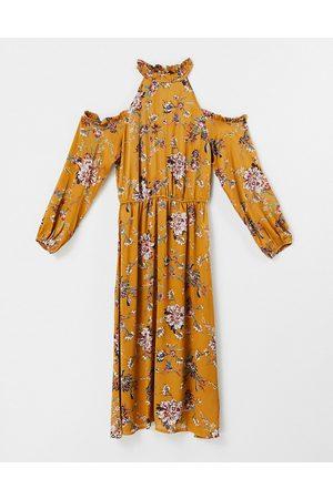 Lipsy London Damen Bedruckte Kleider - – Geblümtes Midikleid
