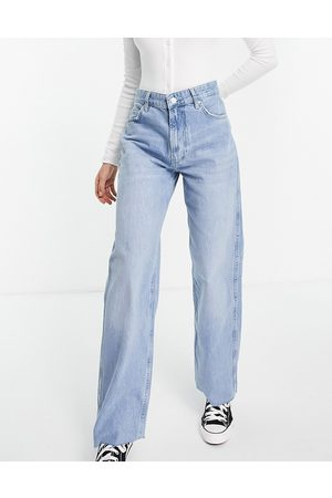 Bershka – Baggy-Jeans in mit Fransensaum