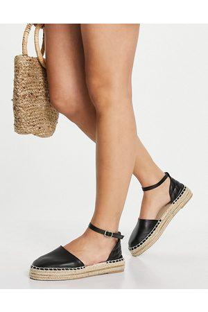 New Look Damen Espadrilles - – Espadrilles in mit Riemen im Steppdesign