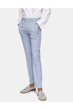 Topman – Eng geschnittene Anzughose in Hellblau